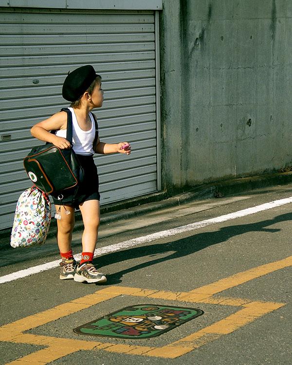 boy walking home